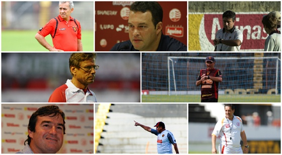 Técnicos de Náutico e Sport desde 2002. Fotos: Diario de Pernambuco