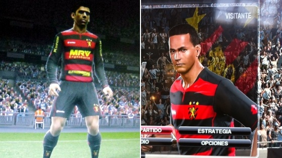Uniformes do Sport nos games Pro Evolution Soccer 2013 e 2014