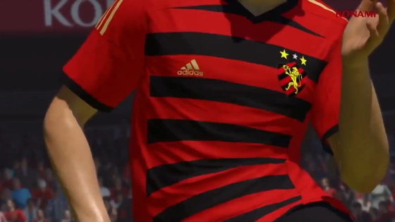 Camisa do Sport no game Pro Evolution Soccer 2015. Crédito: Konami/youtube
