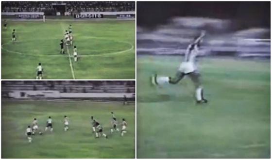 Lance a lance de Nivaldo no gol mais rápido do Brasileirão, em 1989. Crédito: Youtube/Rede Globo