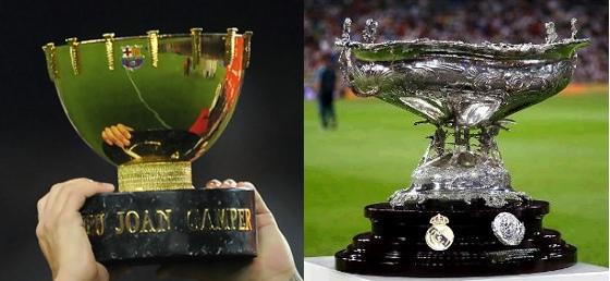 Troféus Joan Gamper (Barcelona) e Santiago Bernabéu (Real Madrid)