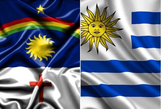Bandeiras de Pernambuco e Uruguai