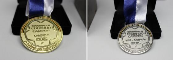 Medalhas da Taça Eduardo Campos. Foto: FPF/Assessoria