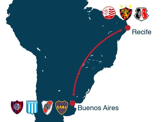 Voo Buenos Aires-Recife