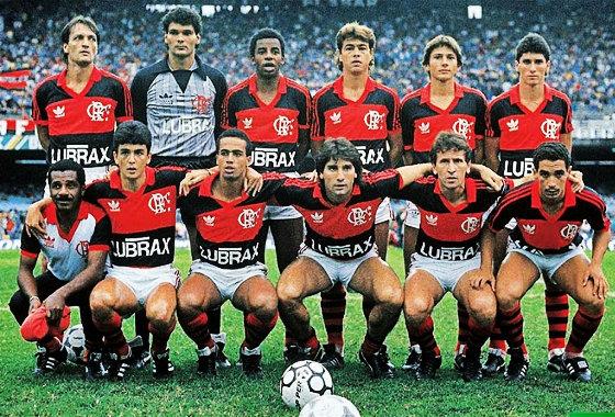 Flamengo na final do Módulo Verde do Campeonato Brasileiro de 1987. Foto: Placar/reprodução