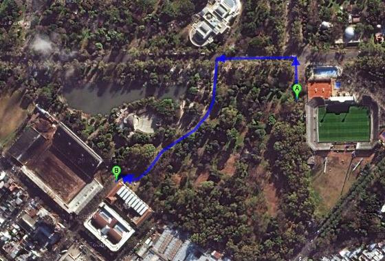 Estádios em La Plata, Argentina. Imagem: Google Maps