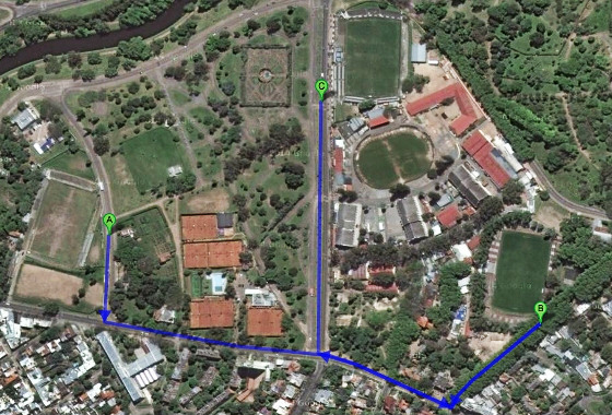Parque del Prado, em Montevidéu. Crédito: Google Maps