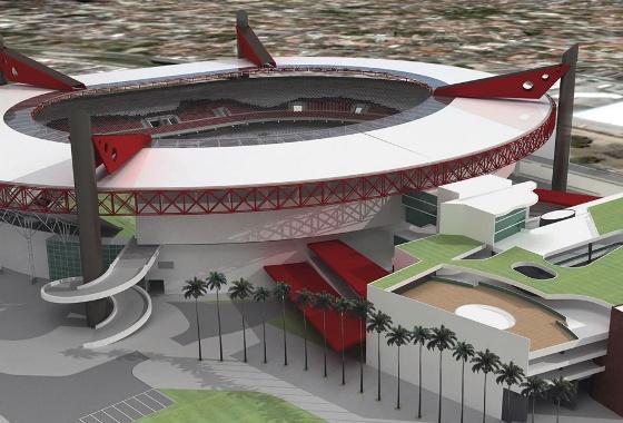 Projeto da Arena Coral. Crédito: Santa Cruz/divulgação
