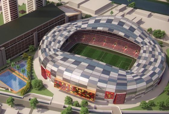 Projeto da Arena do Sport. Crédito: Sport/divulgação