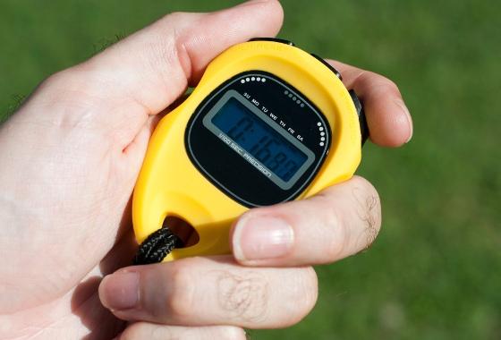 Cronômetro no campo
