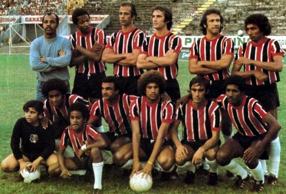 Pôster do Santa Cruz, semifinalista do Brasileirão de 1975. Foto: Placar/reprodução