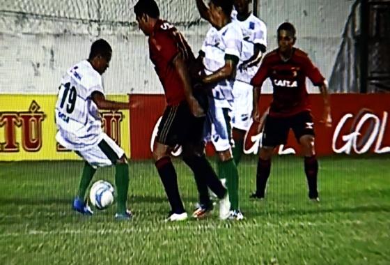 Nordestão 2015, Coruripe 1x0 Sport. Imagem: Rede Globo/reprodução