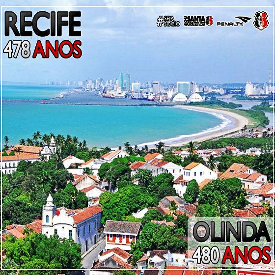 Homenagem do Santa Cruz aos aniversários de Recife e Olinda, em 12 de março de 2015. Crédito: Náutico/facebook