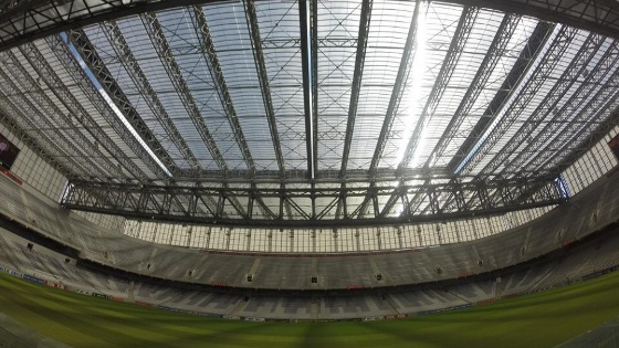 Teto retrátil da Arena da Baixada. Foto: Atlético-PR/site oficial