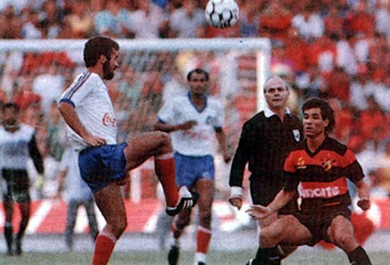 Brasileirão de 1988, quartas de final: Bahia 0x0 Sport. Imagem: reprodução/Bobô
