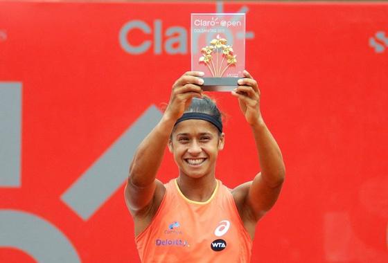 Teliana Pereira em Bogotá. Foto: Copa WTA Bogotá/facebook