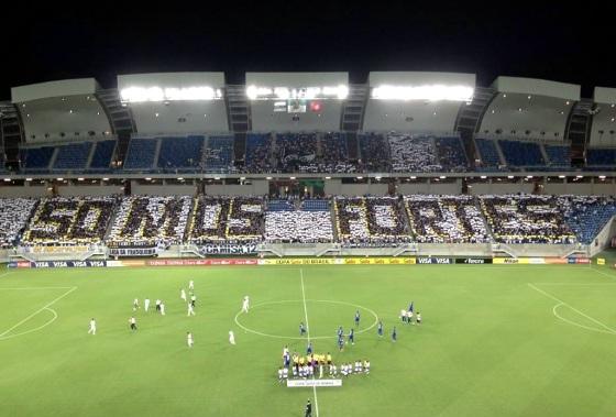 Mosaico do ABC na Arena das Dunas. Foto: @CarlosCruzRN (twitter)