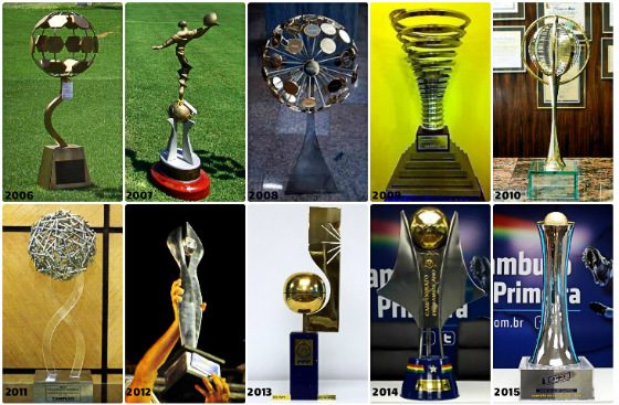 Troféus do Campeonato Pernambucano de 2006 a 2015