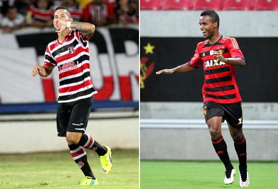 Betinho e Elber, artilheiros do Campeonato Pernambucano de 2015, com 5 gols. Foto: DP/D.A Press