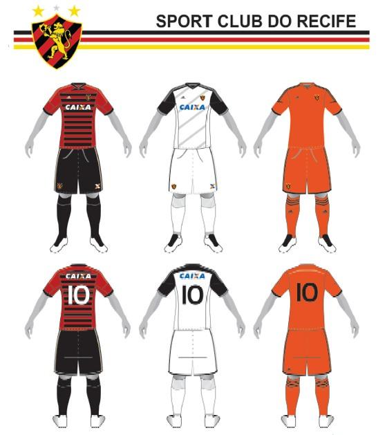 Padrões do Sport no cadastro nacional de uniformes de times (CNUT) 66376b7678fc6