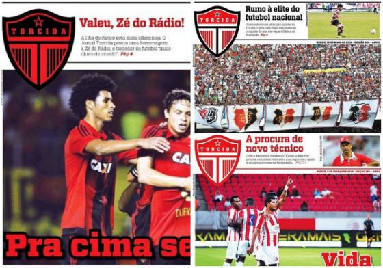Capas do jornal Torcida, gratuito. Imagem; divulgação