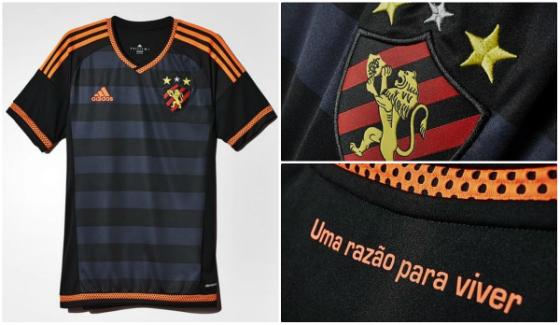 7d255f0584 Camisa reserva do Sport em 2015. Crédito  divulgação