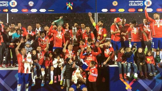 Chile, o campeão da Copa América 2015. Foto: Conmebol/Twitter