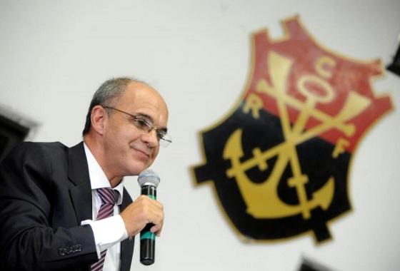 Eduardo Bandeira de Mello, o presidente do Flamengo (2013-2015). Crédito: Alexandre Vidal/FlaImagem