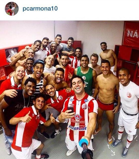 Selfie de Pedro Carmona no Náutico. Crédito: instagram