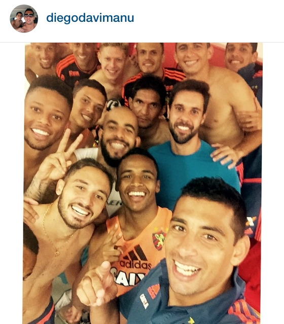 Selfie de Diego Souza no Sport. Crédito: instagram