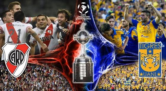 Final da Libertadores 2015: River Plate x Tigres. Imagem: Conmebol
