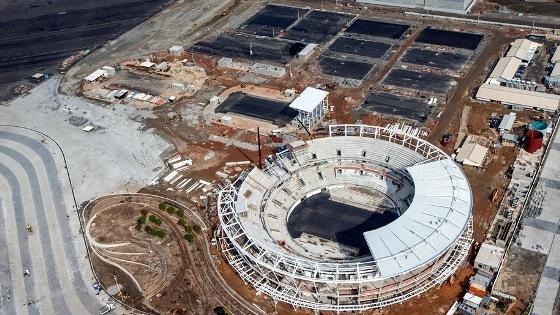 Faltando 1 ano para a Olimpíada 2016, o Centro de Tênis. Foto: Gabriel Heusi/brasil2016.gov.br