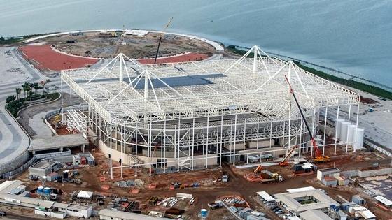 Faltando 1 ano para a Olimpíada 2016, o Estádio Aquático. Foto: Gabriel Heusi/brasil2016.gov.br