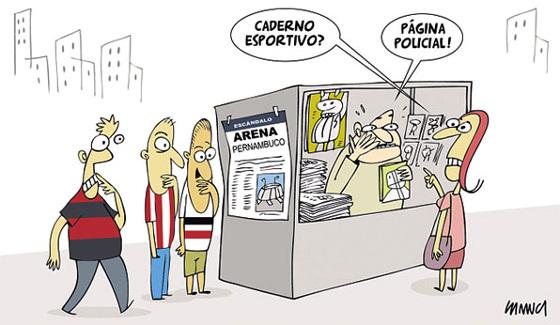 Charge de Samuca/DP/D.A Press no Diario de Pernambuco (15/08/2015)
