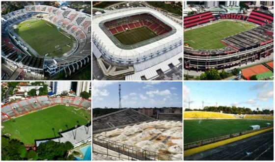 Estádio do Arruda, Arena Pernambuco, Ilha do Retiro, Aflitos, Grito da República e Ademir Cunha. Fotos: DP/D.A Press
