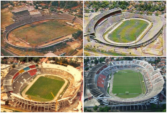 Evolução do Arruda, de 1965 a 2010. Fotos: Arquivo e Toni Abreu/Panoramio (2010)