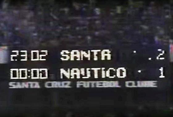 6ec4ceb9f7 Placar eletrônico do Arruda na final do Estadual de 1993. Crédito  RN  Produções