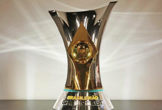 Troféu do Campeonato Brasileiro de 2015. Foto: CBF/divulgação