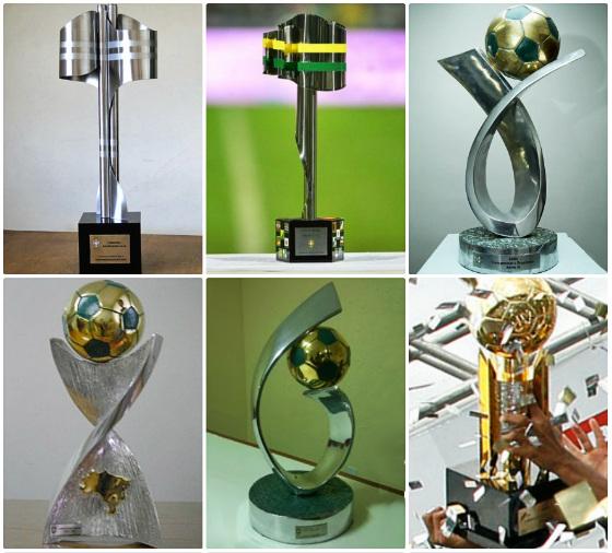 Troféus oficiais até 2011 do Campeonato Brasileiro, Copa do Brasil, Série B, Série C, Série D e Brasileiro Sub 20