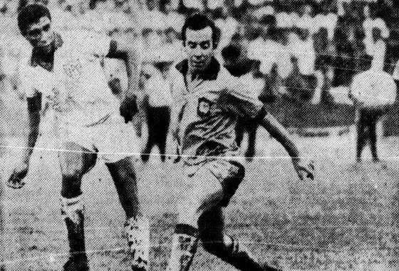 Amistoso na Ilha do Retiro, em 1969: Brasil 6 x 1 Pernambuco. Foto: Arquivo/DP