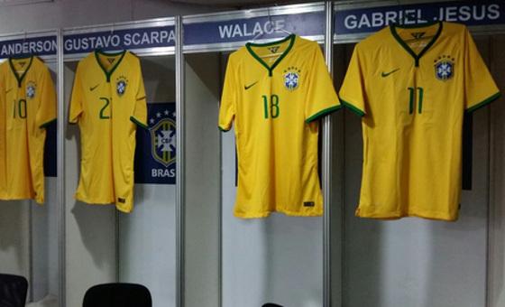 Ilha do Retiro com placas da CBF no amistoso da Seleção Olímpica. Foto: CBF/Twitter