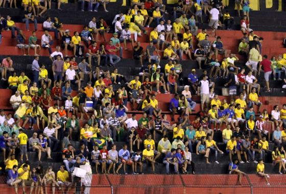 Amistoso em 2015, Brasil (olímpico) 2x1 EUA. Foto: Ricardo Fernandes/DP/D.A Press