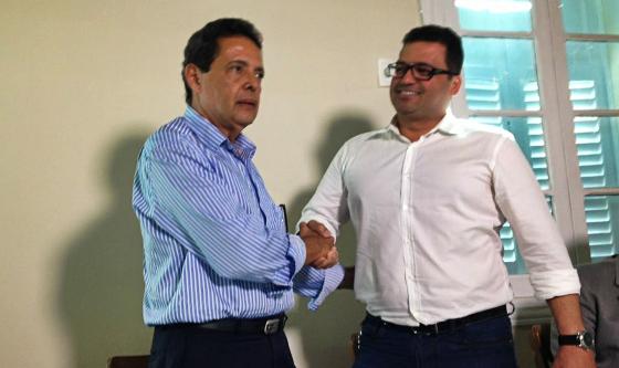 Marcos Freitas e Edno Melo, presidente e vice do Náutico no biênio 2016/2017. Foto: João de Andrade Neto/DP/D.A Press