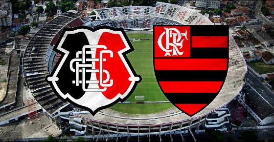 Santa Cruz x Flamengo no Arruda. Arte: Cassio Zirpoli