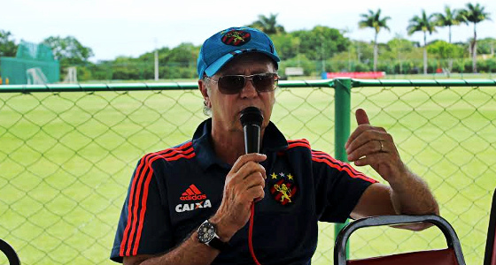 Falcão, técnico do Sport em 2016. Foto: Rafael Brasileiro/DP/D.A Press