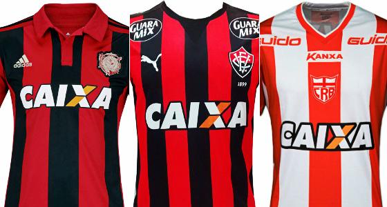 Sport, Vitória e CRB, patrocinados pela Caixa desde 2014