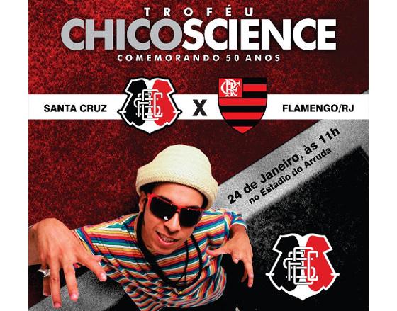 Troféu Chico Science 2016: Santa Cruz x Flamengo. Crédito: Santa Cruz/divulgação
