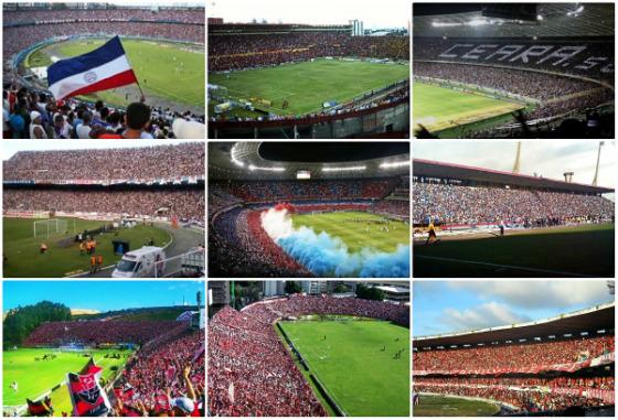 Os times com as melhores médias de público na Série A (1971-2015): Bahia, Sport e Ceará; Santa Cruz, Fortaleza e CSA; Vitória, Náutico e América-RN