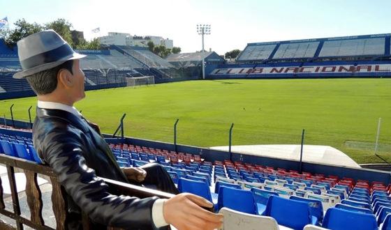 Estátua de Carlos Gardel no estádio do Nacional, no Uruguai. Foto: ferplei.com