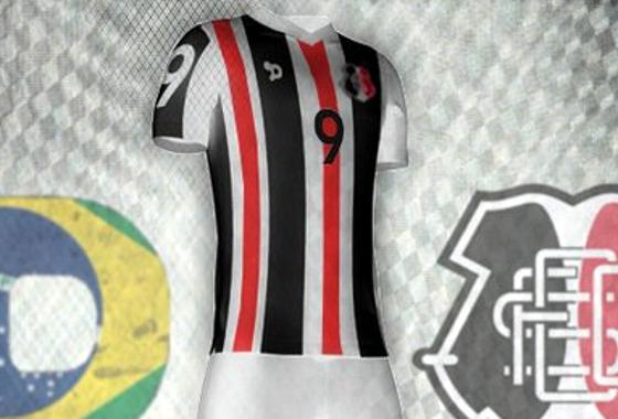 As projeções de uniformes do Santa Cruz na web